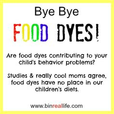 Day 3. Dye-Free Foods