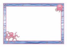Octopus A4 page borders (SB7449) - SparkleBox
