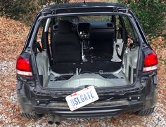Joe Mayer, a Cincinnati car salesman, says he's turning in his 2010 Volkswagen Golf TDI as part of VW's court-ordered buyback, but not before stripping the car down to the bone, removing the doors, seats, hood, bumpers, hatch and a big portion of the interior. Just look at this naked carcass he's selling back to VW!