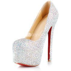 Gorgeous Colorful High Heel Rhinestone Fashion High Heels ❤ liked on Polyvore