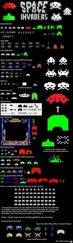 Space Invaders Sprite Sheet by GooperBlooper22
