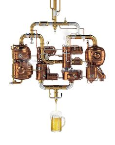 'beer' letters from pipes,copper tanks and brewing apparatus, typographic illustration Beer Brewing, Home Brewing, Craft Bier, Steampunk, Foto Poster, Bar Logo, Beer Poster, Beer Lovers, Lettering