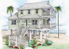 plan 15035nc: narrow lot beach house plan | kitchens, beach and house