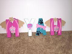 Girl paw patrol letters Paw Patrol Tv Show, Sky Paw Patrol, Paw Patrol Toys, Paw Patrol Party, Girl Paw Patrol Birthday, 3rd Birthday Parties, 2nd Birthday, Birthday Ideas, Paw Patrol Bedroom
