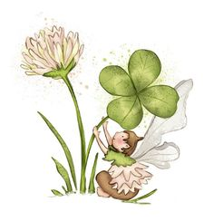 Clover flower but without the fairy for a tattoo