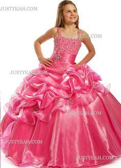 Tulle Floor Length Party Dresses For Girls