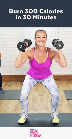 300-Calorie Strength-Training Workout Torching calories and building lean muscles doesn't need to take all day. Give us half an hour, and we will help you burn up to 300 calories. This 30-minute #fitness #exercise