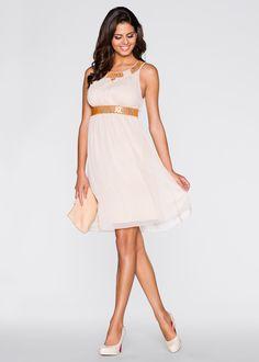 Kleid nude - BODYFLIRT jetzt im Online Shop von bonprix.de ab ? 40,99 bestellen. Funkelnde Schmucksteine zieren den Collier-Ausschnitt mit reizvollem ...