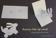 FREE printable easy pop-up Bunny card for kids to make  #popupcard #homemadecards #eastercards