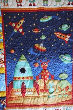 1000 images about aliens space quilts on pinterest for Outer space quilt patterns