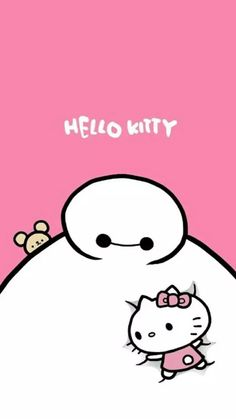 Baymax x Hello Kitty wallpaper