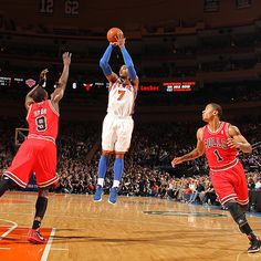 Carmelo Anthony (43 points) had his best game as a Knick, hitting clutch 3-pointers to force overtime and to win the game.