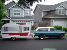 Scout and 1964 Cardinal trailer