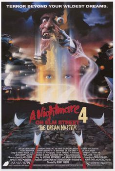 A fantastic movie poster from A Nightmare on Elm Street 4! Freddy Kruger is The Dream Master. Published in 2006. Fully licensed. Ships fast. 24x36 inches. Need Poster Mounts..? bm8754 nmr24348