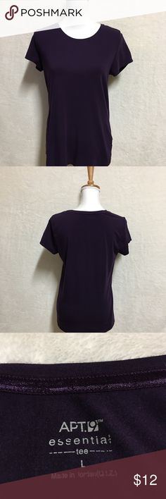 Apt 9 Women's Blouse Size Large Dark Purple Very simple blouse short sleeves Dark purple  Very good condition no stains or holes  Cotton material very soft Apt. 9 Tops Blouses