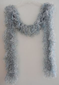 Handmade Glamour Scarf Glitter Light Blue Eyelash by MerlinDesigns, $35.00
