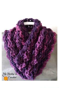 Purple Paris Cowl | AllFreeCrochet.com