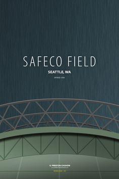 Minimalist Safeco Field