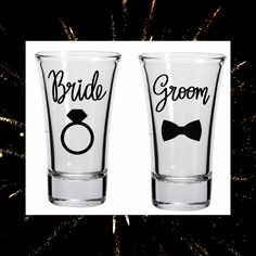 Wedding Gifts For Bride And Groom, Bride Gifts, Shot Glass Set, Name Gifts, 21st Gifts, Personalized Cups, Etsy Crafts, Sell On Etsy, Delish