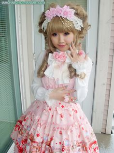"Lolita.  ""Lolita"" fashion is the name for clothes worn by Japanese teenage girls, making them look like elaborately dressed little girl dolls."
