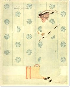 Coles Philips - Coles Phillips - Life Magazine Sept.17 1908 Painting