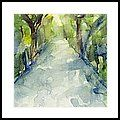 Path Conservatory Garden Central Park Watercolor Painting Framed Print by Beverly Brown