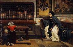 """Marguerite in Church""   James Tissot"