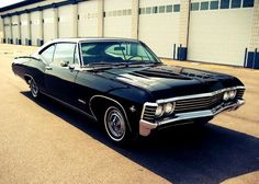 1967 Chevy Impala. My dream car. Not because of supernatural (although they introduced me to it), because it really is a cool car. ❤