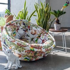 Jungle Animal Cocoon Chair - View All Seating - Seating - Sofas & Seating Bean Bag Bed, Bean Bag Chair, Bean Bags, Palm Leaf Wallpaper, Jungle Bedroom, Tropical Bedrooms, Animal Magic, Bed In A Bag, Animal Decor