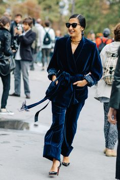 Street style à la Fashion Week printemps-été 2017 de Paris
