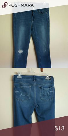 AE jeggings These are gently used AE jeggings. In great condition. American Eagle Outfitters Jeans Skinny