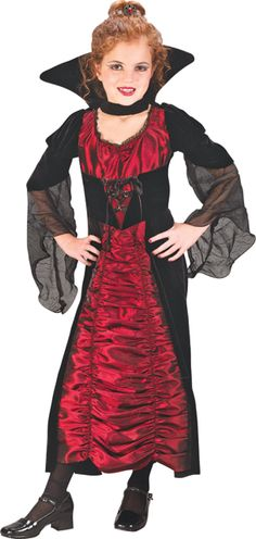 Perfekt Coffin Vampiress Child Costume