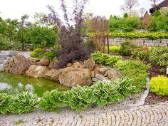 Piękny Ogród Przy Rezydencji.Oczko wodne