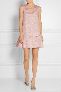 DELPOZO Metallic jacquard mini dress$1,250