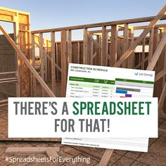 Use a Construction Schedule spreadsheet to do some simple planning and scheduling for your home build or remodel project. Download free from Vertex42.com