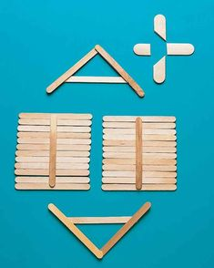 Made by gluing together Popsicle sticks, this post-ice-pop house is the perfect craft for kids to make.