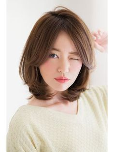 Pin on hair Medium Hair Cuts, Short Hair Cuts, Medium Hair Styles, Short Hair Styles, Asian Short Hair, Girls Short Haircuts, How To Lighten Hair, Hairstyles With Bangs, Hair Day