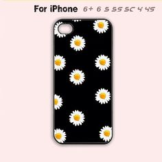 Daisy Phone Case For iPhone 6 Plus For iPhone 6 For iPhone 5/5S For iPhone 4/4S For iPhone 5C-5 Colors Available