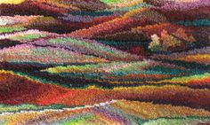 I ❤ mixed media . . . Since the time I can remember myself I had the urge to put the sights & colors that surround me into some form of visual art. The first form is the creation of hooked wool wall hangings that I like to call WoolScapes ~By Hana Rosenmann of Woolscapes