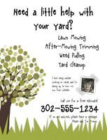 Lawn Care. Landscaping. Mowing. Marketing flyer | Landscaping ...