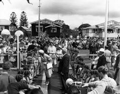 Digital Image Details HRH Princess Alexandra meeting scouts at Childers, 1959 Qld State Archives