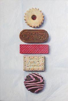 Joel Penkman I New Zealand collection Joel Penkman, Lynda Barry, Gcse Art Sketchbook, Sketchbook Project, Food Artists, Food Painting, Biscuit Cookies, Mini Cookies, Food Drawing