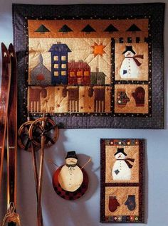 Folk-Art Yuletide Quilted Wall Hanging Pattern, FREE