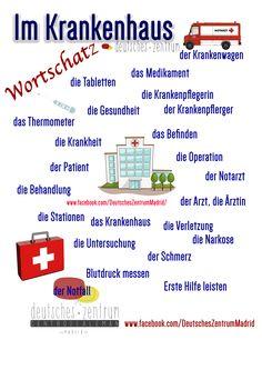 Krankenhaus Deutsch Wortschatz Grammatik Alemán German DAF Vocabulario