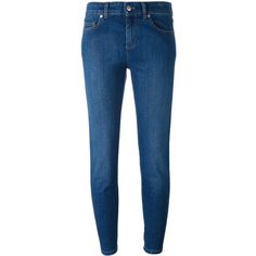 Alexander McQueen cropped jeans (£300) ❤ liked on Polyvore featuring jeans, blue, blue jeans, alexander mcqueen jeans, alexander mcqueen, cropped jeans and 5 pocket jeans