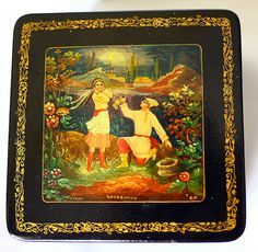 Russian Mstera Hand Painted Box Lacquer Miniature by cherryshop