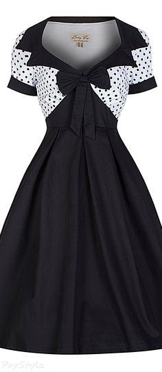 Lindy Bop 'Delilah' Vintage 50's Polka Dot Bow Dress