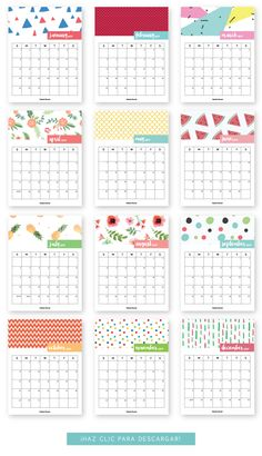 FREE Monthly Printable Calendar 2017 V2