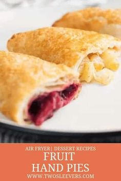 Fruit Hand Pies | Apple Hand Pies | Blueberry Hand Pies | Cherry Hand Pies | Hand Pie Recipes | Air Fryer Hand Pies | Air Fried Hand Pies | Best Hand Pie Recipe | Air Fryer Recipes | Air Fried Recipes | Dessert Recipes | Air Fryer Dessert Recipes | TwoSleevers | #twosleevers #fruit #handpies #pie #airfryer #airfried #nutfree