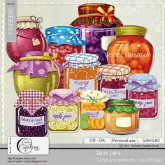 CAJOLINE-SCRAP: Freebie - Jam jars CU